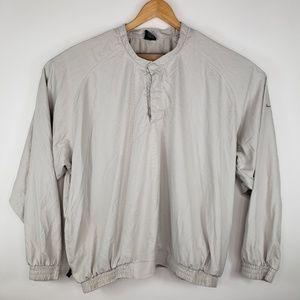 Nike Golf Mens Size XXL Beige 1/4 Button Pullover